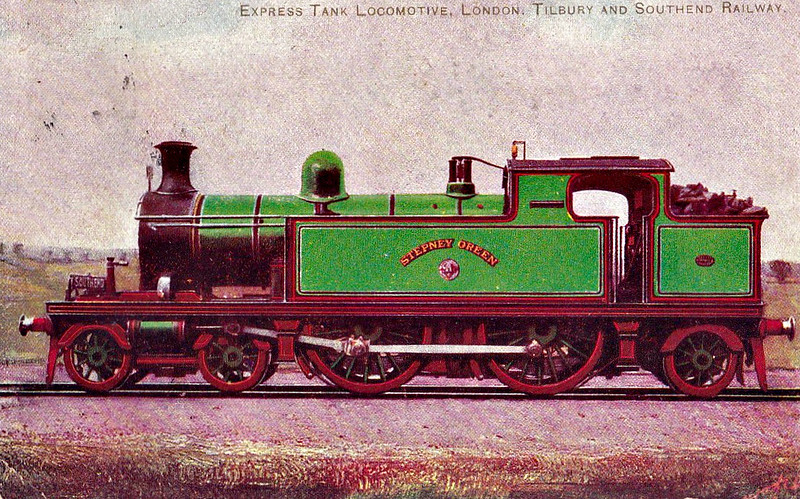 53 STEPNEY GREEN - Whitelegg Class 51 4-4-2T - built 1900 by Sharp Stewart - 1912 to MR No.2160, 1930 to LMS No.2094 - BR No.41912 not applied - 08/49 withdrawn from 18C Hasland.