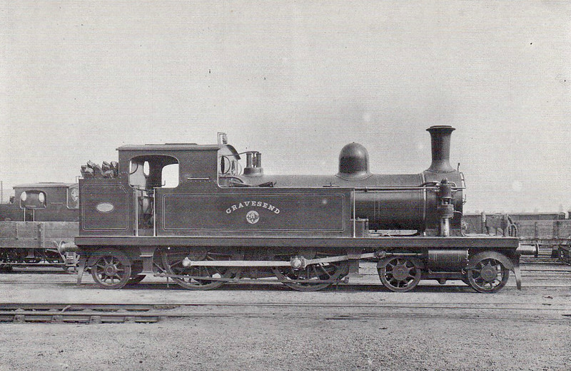2 GRAVESEND - Whitelegg Class 1 4-4-2T - built 05/1880 by Sharp Stewart - 1912 to MR No.2111, 1923 to LMS No.2201, 1930 to LMS No.2078 - 09/35 withdrawn.