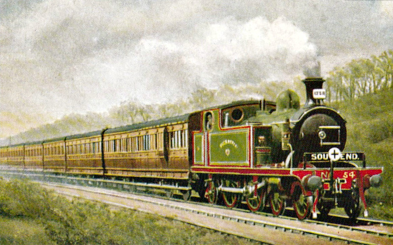 54 MILE END - Whitelegg Class 51 4-4-2T - built 1900 by Sharp Stewart - 1912 to MR No.2161, 1930 to LMS No.2095 - BR No.41913 not applied - 06/49 withdrawn from 18C Hasland.