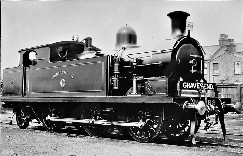 69 CORRINGHAM - Whitelegg LTSR Class 69 0-6-2T - built 06/03 by North British Loco Co. - 1912 to MR No.2180, 1923 to LMS No.2220, 1939 to LMS No.2180, 1947 to LMS No.1980, 04/49 to BR No.41980 - 06/58 withdrawn from 33A Plaistow.