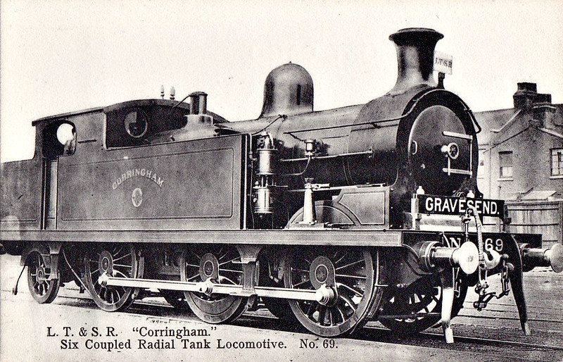69 CORRINGHAM - Whitelegg Class 69 0-6-2T - built 06/03 by North British Loco Co. - 1912 to MR No.2180, 1923 to LMS No.2220, 1939 to LMS No.2180, 1947 to LMS No.1980, 04/49 to BR No.41980 - 05/58 withdrawn from 13A Plaistow.