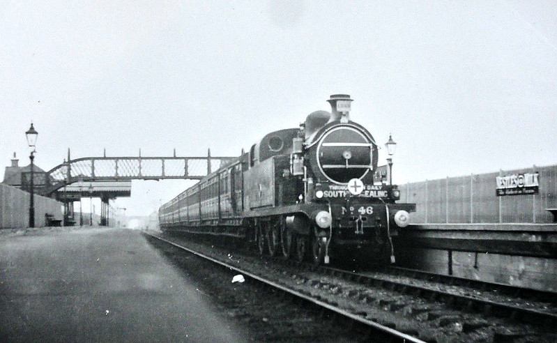 46 SOUTHCHURCH - Whitelegg LTSR Class 37 4-4-2T - built 1898 by Dubs & Co. - 1912 to MR No.2155, 1930 to LMS No.2144, 07/48 to BR No.41962 - 02/51 withdrawn from 16D Mansfield.