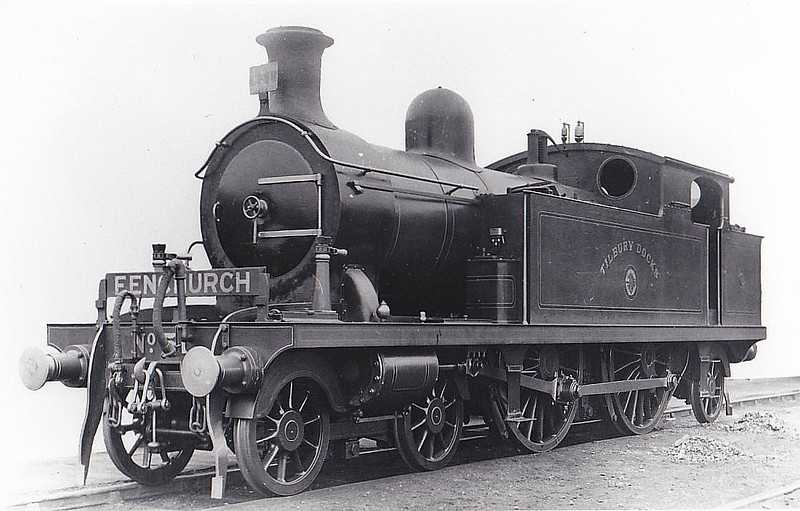 51 TILBURY DOCKS -  Whitelegg Class 51 4-4-2T - built 09/00 by Sharp Stewart - 1911 renamed PURFLEET - 1912 to MR No.2158, 1930 to LMS No.2092 - BR No.41910 not applied - 09/48 withdrawn from 18C Hasland.
