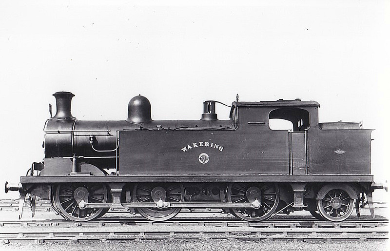 71 WAKERING - Whitelegg Class 69 0-6-2T - built 06/03 by North British Loco Co. - 1912 to MR No.2182, 1923 to LMS No.2222, 1939 to LMS No.2182, 02/49 to BR No.41982 - 02/59 withdrawn from 33A Plaistow.