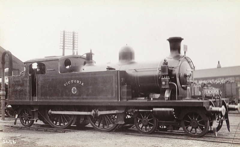 65 VICTORIA - Whitelegg LTSR Class 51 4-4-2T - built 1903 by North British Loco Co. - 1912 to MR No.2172, 1930 to LMS No.2106, 05/49 to BR No.41923 - 11/49 withdrawn from 33A Plaistow.