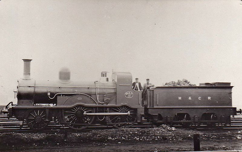 No.10 - Smellie M&CR Class 13 2-4-0 - built 1878 by Maryport Works - 1924 to LMS No.10007 (not applied) - 03/25 withdrawn - seen here in 1910.