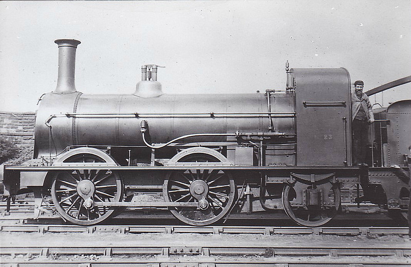 No.23 - 0-4-2 - built 1872 by Beyer Peacock & Co., Works No.1144 - 1923 withdrawn.