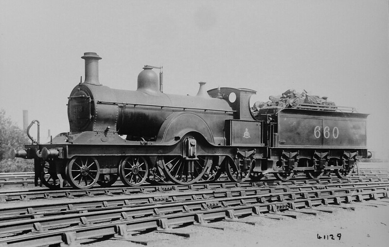660 - Johnson MR Class 179 4-2-2 - built 1893 by Derby Works as MR No.179 - 1907 to MR No.660 - 1926 withdrawn.