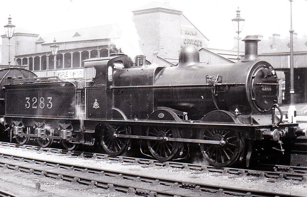 Class 1873 - 1956 - Johnson MR Class 2F 0-6-0 - built 1891 by Neilson & Co., Works No.4228 - 1907 to MR No.3283 - 1923 to LMS - 08/48 to BR No.43283 - 08/53 withdrawn from 8B Warrington Dallam - seen here at Nottingham after rebuild to Class 3F.