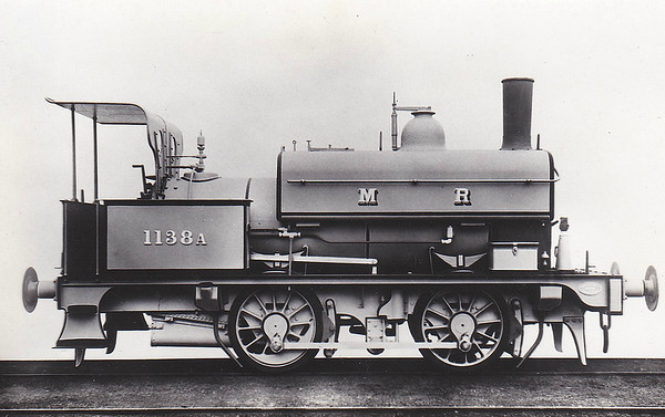 1138A - Johnson MR 1134A 0-4-0ST - built 1897 by Derby Works, Works No.1552 - 1907 to MR No.1522 - 1928 withdrawn.
