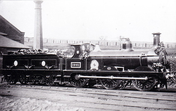 Class 1873 - 1961 - Johnson MR Class 2F 0-6-0 - built 1891 by Neilson & Co., Works No.4233 - 1907 to MR No.3288 - 1926 withdrawn - seen here at Hasland in 1908 about to run a ceremonial special of some sort.