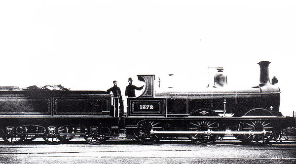Class 1357 - 1372 - Johnson 2F 0-6-0 - built 1878 by Dubs & Co., Works No.1053, as MR No.1372 - 1907 to MR No.3035 - 1923 to LMS - 12/49 to BR No.58191 - 10/59 withdrawn from 55D Royston - seen here when new.