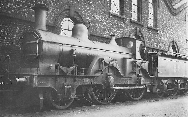 52 - Kirtley MR 800 Class 2-4-0 - built 1870 by Neilson & Co. as MR No.819 - 1907 to MR No.52 -1920 withdrawn.