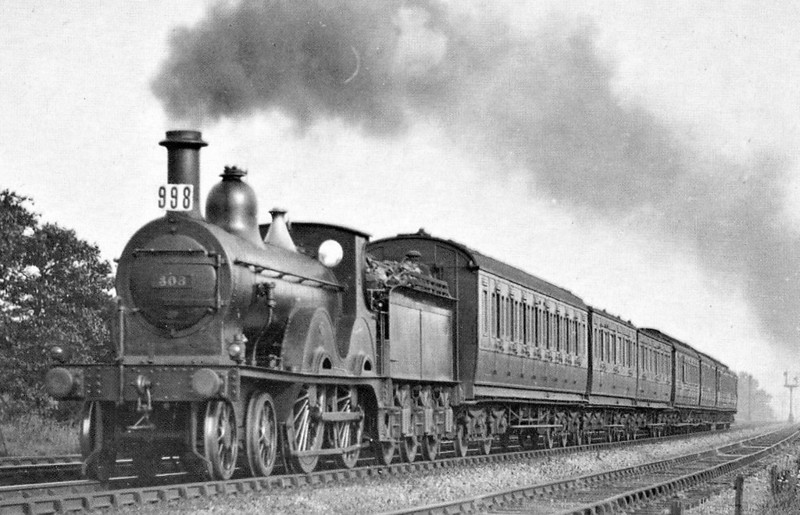 308 - Johnson MR Class 1312 2P 4-4-0 - built 1877 by Kitson & Co. as MR No.1320 -1907 to No.308 - 1925 withdrawn.