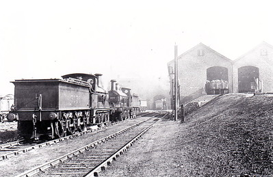 Class 1357 - 3036 - Johnson 2F 0-6-0 - built 1878 by Dubs & Co., Works No.1054, as MR No.1373 - 1907 to MR No.3036 - 1923 to LMS - 1927 withdrawn - seen here at Belle Vue with No.3072.