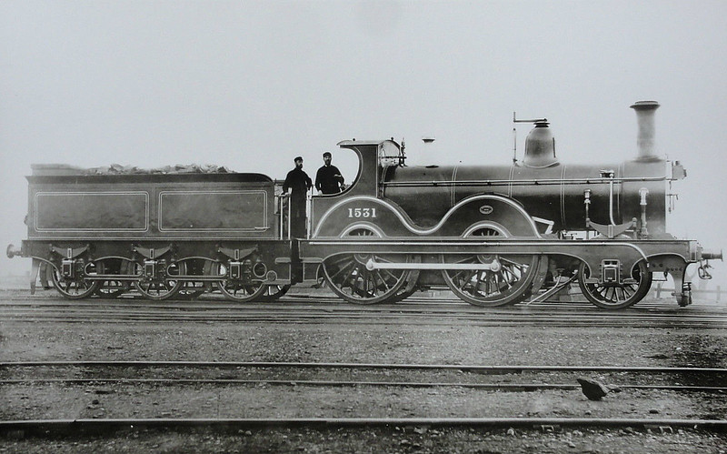 1531 - Johnson MR Class 1502 2-4-0 - built 1881 by Neilson & Co. - 1907 to MR No.271 - 1928 withdrawn.