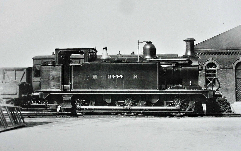 2444 - Johnson MR Class 2441 3F 0-6-0T - built 1899 by Vulcan Foundry Co. - 1907 to MR No.1903, 1934 to LMS No.7203, 09/50 to BR No.47203 - 08/60 withdrawn from 14B Kentish Town.