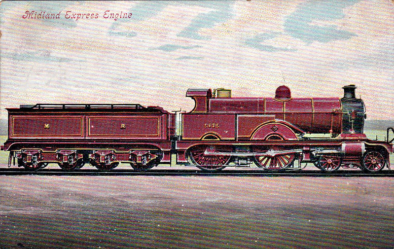 2632 - 2634 - Johnson MR Class 2631 Compound 4-4-0 - built 1902 by Derby Works - 1907 to MR No.1001, 08/48 to BR No.41001 - 10/51 withdrawn from 22 B Gloucester Barnwood - posted August 25th, 1905.