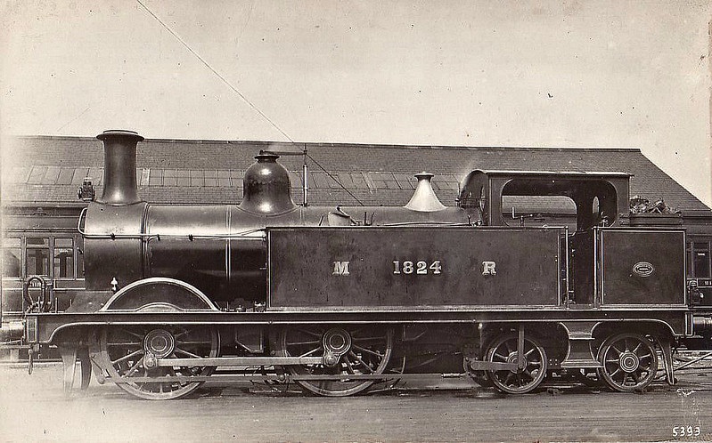 1824 - Johnson MR Class 1532 1P 0-4-4T - built 06/1896 by Derby Works - 1907 to MR No.1332 - 08/31 withdrawn.