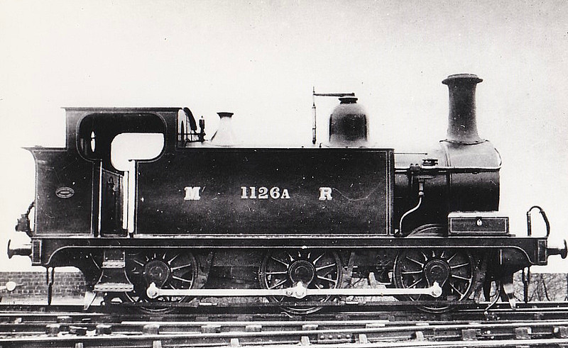 1126A - Severn & Wye Railway 0-6-0T  - built 1883 by Vulcan Foundry  as S&WR 'FORESTER' - 1885 to MR as No.1126A, 1907 to MR No.1608 - 1924 withdrawn - seen here in about 1896.