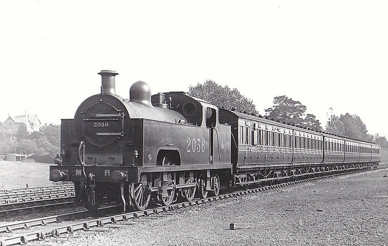 2036 - Deeley MR Class 3P Flatiron 0-6-4T - built 1907 by Derby Works - 1936 withdrawn - seen here at Kings Norton, 10/21.