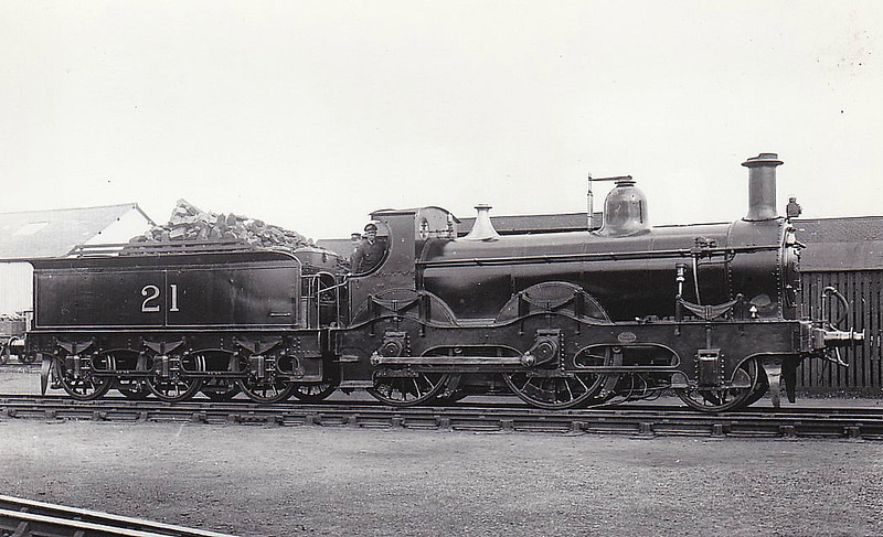 21 - Kirtley MR Class 156 2-4-0 - built 1874 by Derby Works as MR No.154 - 1897 to MR No.154A, 1907 to MR No.21 - 1933 withdrawn - seen here at Wellingborough, 10/22.