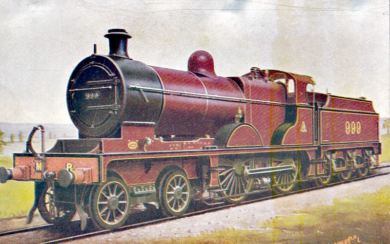 999 - Deeley MR Class 4 4-4-0 - built 1906 by Derby Works as MR No.809 - 1907 to MR No.999 - 1929 withdrawn.