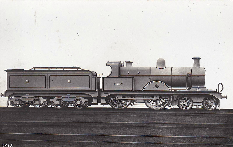 Class 2606 - 2607 - Johnson MR Class 2606 4-4-0 - built 1900 by Derby Works, Works No.1869 - 1907 to MR No.701 - 1931 withdrawn.