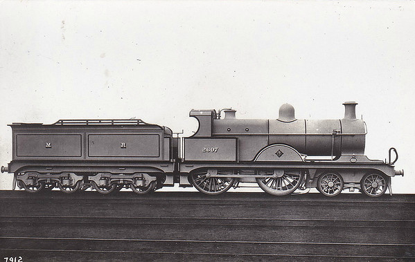 2607 - Johnson MR Class 2606 4-4-0 - built 1900 by Derby Works, Works No.1869 - 1907 to MR No.701 - 1931 withdrawn.