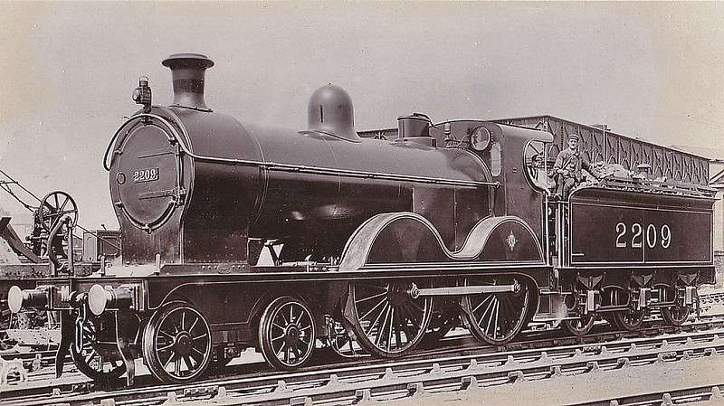 2209 - Johnson MR Class 2203 4-4-0 - built 1893 by Sharp Stewart & Co. - 1907 to MR No.434 - 1916 withdrawn.