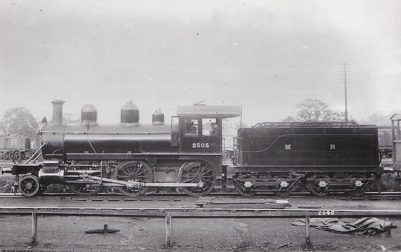 Class 2501 - 2505 - Johnson MR Class 2501 2-6-0 - built 1899 by Baldwin Locomotive Works, Philadelphia, Works No.16625 - 1907 to MR No.2204 - 1910 withdrawn.