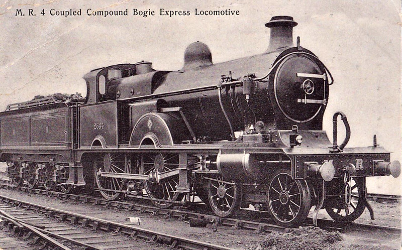 2634 - Johnson MR Class 2631 Compound 4-4-0 - built 1903 by Derby Works - 1907 to MR No.1003, 08/48 to BR No.41003 - 04/51 withdrawn from 17A Derby.