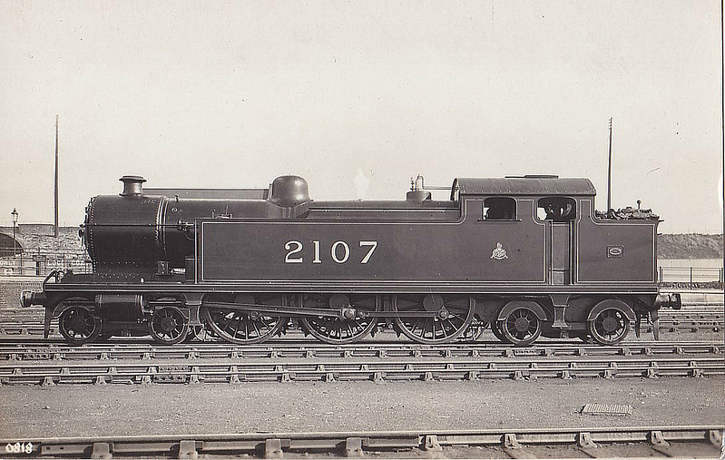 2107 - Whitelegg LTSR Class 2100 3P 4-6-4T - built 05/13 by Beyer Peacock Ltd as MR No.2107 - 09/29 withdrawn.