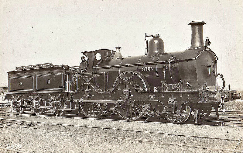 815A - Kirtley MR 800 Class 2-4-0 - built 1870 by Neilson & Co. as MR No.815 - 1902 to Duplicate List as 815A, 1907 to MR No.48 - 1911 withdrawn - seen here just before renumbering.