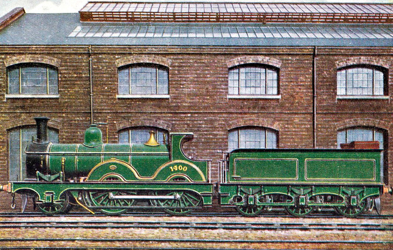 1400 - Johnson MR Class 1400 2-4-0 - built 1879 by Derby Works as MR No.1400 - 1907 to MR No.207, 1932 to LMS No.20207 - 1937 withdrawn.