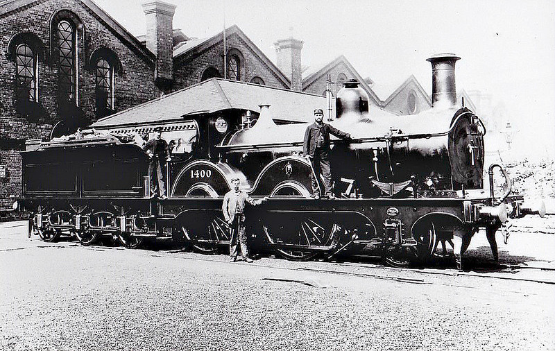 1400 - Johnson MR Class 1400 2-4-0 - built 1879 by Derby Works as MR No.1400 - 1907 to MR No.207 -