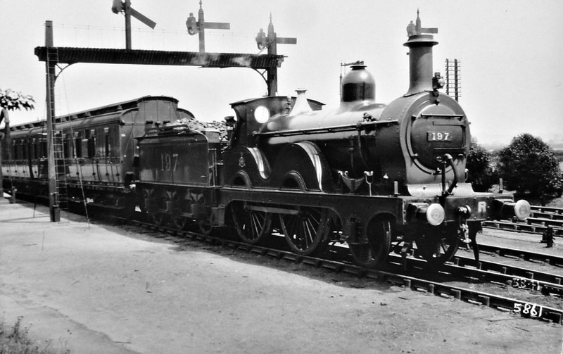 197 - Johnson MR Class 1347 2-4-0 - built 1877 by Derby Works as MR No.1347 - 1907 to MR No.197 - 1924 withdrawn.