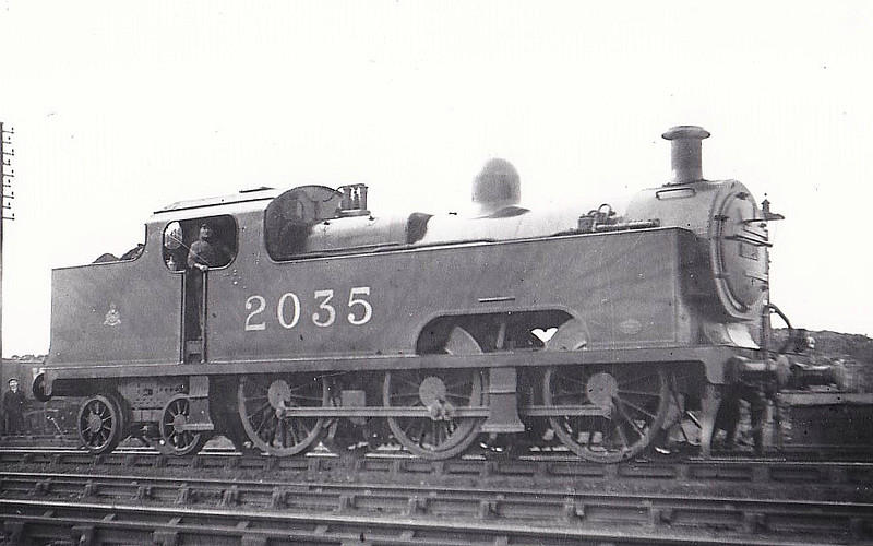 2035 - Deeley MR Class 3P Flatiron 0-6-4T - built 1907 by Derby Works - 1936 withdrawn - seen here at Bournville MPD, 02/21.