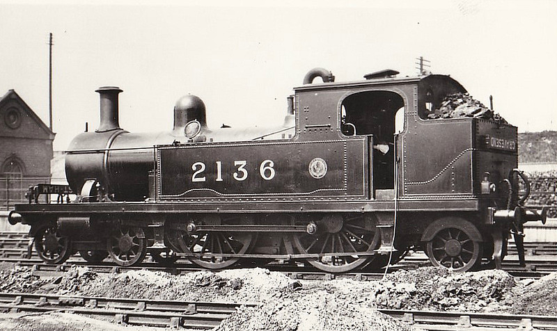 2136 - Whitelegg LTSR Class 1 4-4-2T - built 1885 by Sharp Stewart & Co. as LTSR No.27 WHITECHAPEL - 1912 to MR No.2136, 1923 to LMS No.2202, 1930 to LMS No.2057 - 1932 withdrawn.