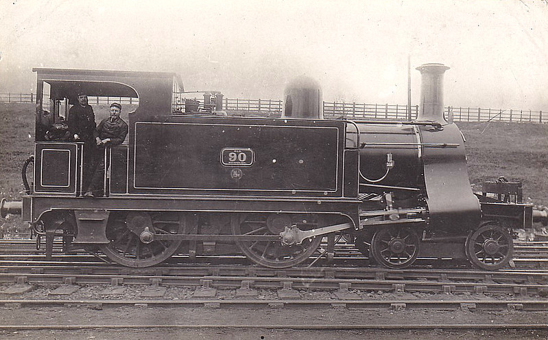 90 - Pryce NLR 4-4-0T - built 1899 by Bow Works, Works No.263 - 1922 to LNWR No.2870, 1923 to LMS No.6508 -  06/29 withdrawn from Devons Road MPD.