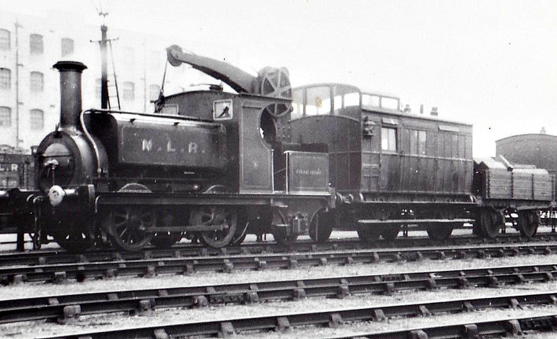 STEAM CRANE - 0-4-2ST Crane Tank - built 1858 by Sharp Stewart as an 0-4-0 for the North & South West Junction Railway - 1872 rebuilt by Park at Bow Works as 0-4-2CT - 1922 to LNWR No.2896, 1923 to LMS No.7217, 1935 to LMS No.27217, 03/49 to BR No.58865 - 02/51 withdrawn, preserved.