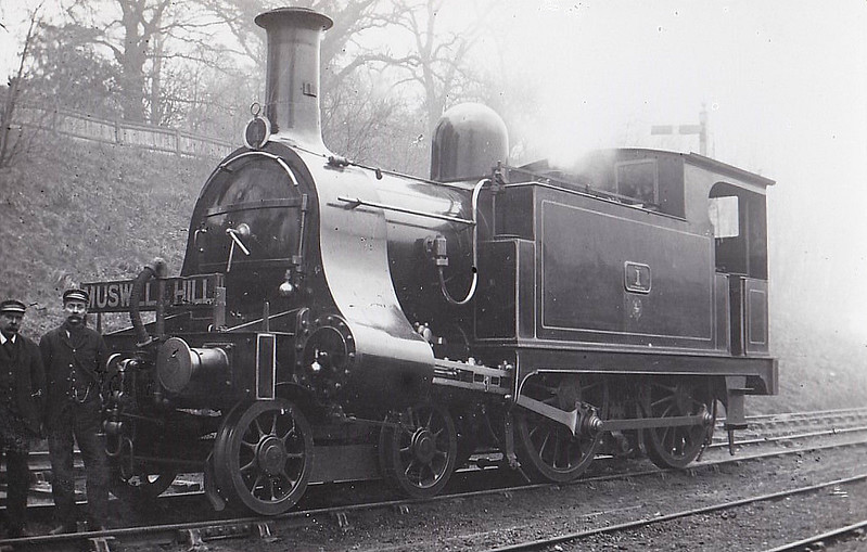 1 - Pryce NLR 4-4-0T - built 1906  by Bow Works - 1922 to LNWR No.2800, 1923 to LMS No.6509 -  06/29 withdrawn from Devons Road MPD.
