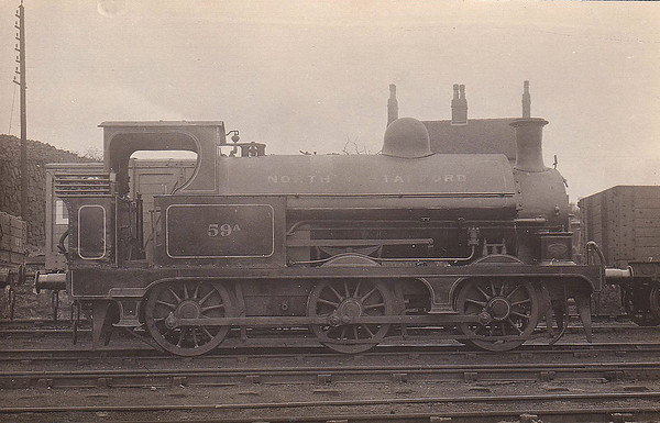 59A - Clare NSR Class ST 1F 0-6-0ST - built 1880 by Stoke Works - 1902 to NSR No.59A, 1923 to LMS No.1601 - 11/20 withdrawn.
