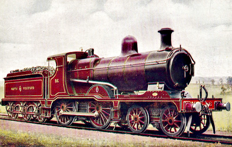 86 - JH Adams NSR Class G 3P 4-4-0 - built 06/10 by Stoke Works - 1923 to LMS No.595, 1928 to LMS No.5410 - 04/29 withdrawn.