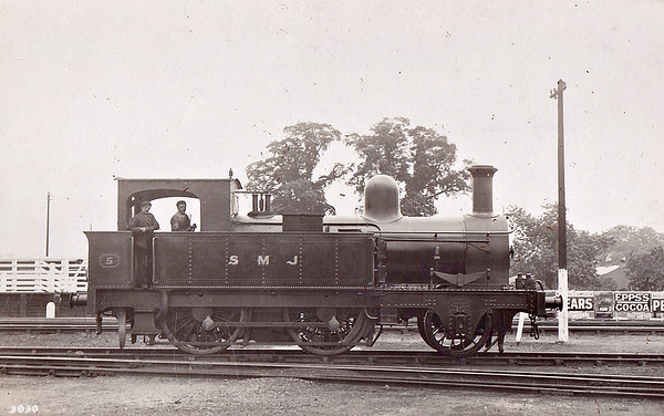 No.5 - 2-4-0T - built 1884 by Beyer Peacock & Co. Ltd. for the Swindon, Marlborough & Andover Railway as No.9 - bought by E&WJR as No.5 - 1916 sold to War Department as Marlborough Camp Railway No.94 - fate not known - seen here after 1907 rebuild at Stratford MPD - banned from reverse running except in emergency due to instability.