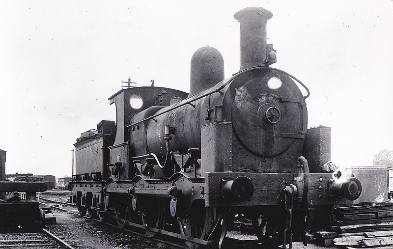 No.2 - 0-6-0 - built 1880 by Beyer Peacock & Co., Works No.1919, for the E&WJR - 1923 to LMS No.2300 - 1927 withdrawn - seen here at Stratford, 09/22.