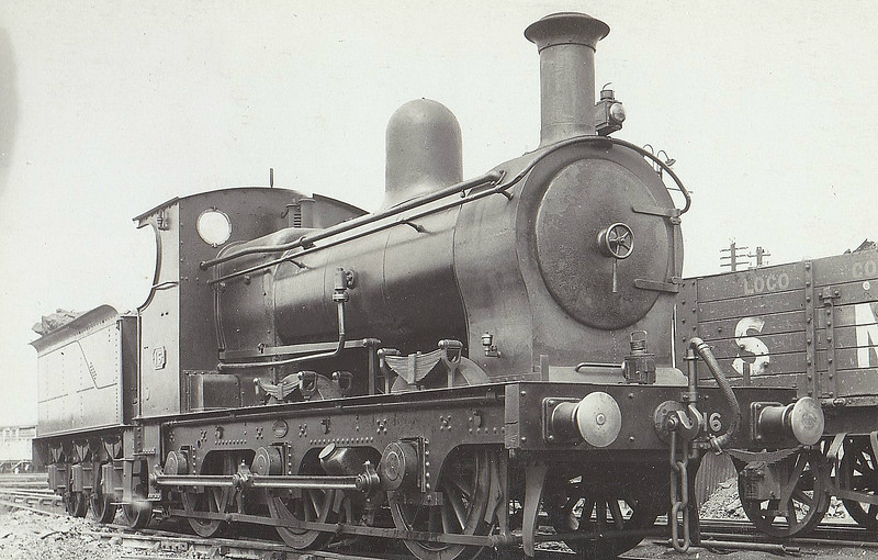 No.16 - 0-6-0 - built 1906 by Beyer Peacock & Co., Works No.4735, for the E&WJR - 1923 to LMS No.2309 - 1927 withdrawn.