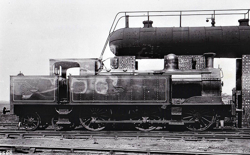 No.12 - 0-6-4T - built 1900 by Beyer Peacock Ltd, Works No.4120 - 02/24 withdrawn - seen here at Birkenhead North. (First of two built).