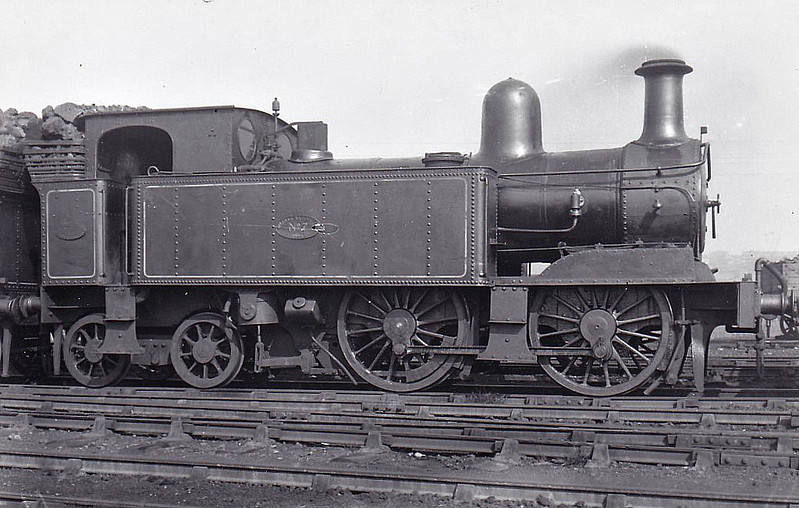 No.7 - 0-4-4T - built 1894 by Beyer Peacock Ltd, Works No.3605 - 1924 withdrawn - seen here at Birkenhead Dock, 09/23.