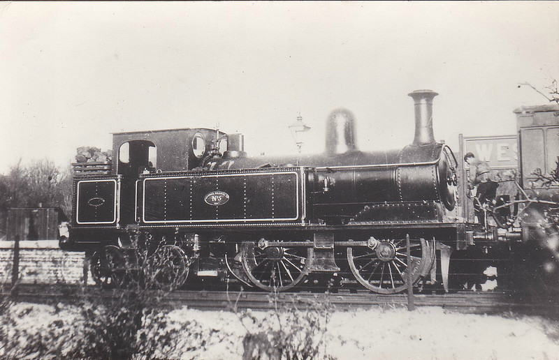 No.5 - 0-4-4T - built 1887 by Beyer Peacock & Co., Works No.2826 - 1923 withdrawn.